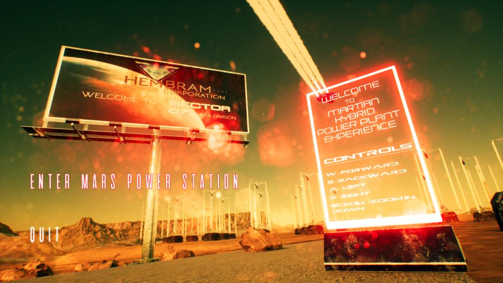 Martian Hybrid Power Plant VR Experience