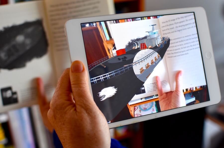 AR apps storytelling - AR Reads - the Dragon Brothers books