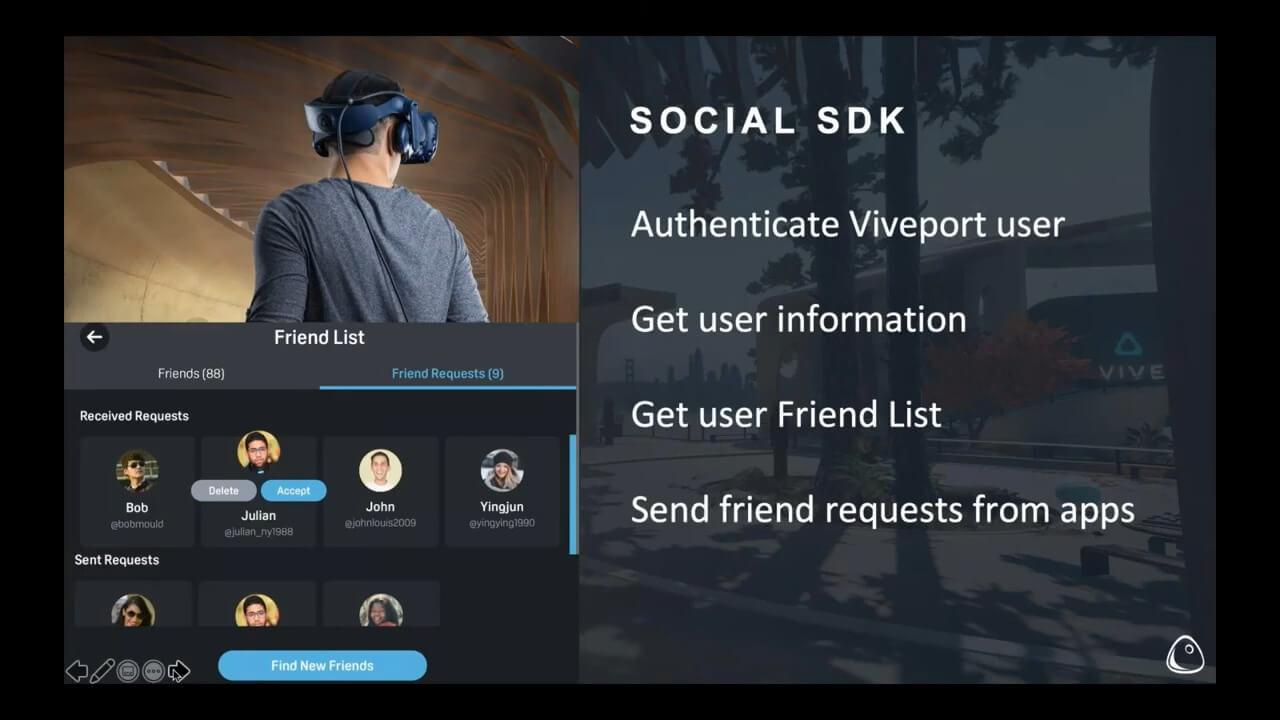 social SDK Viveport webinar